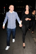 Danielle Lloyd Leaving Hakkasan Restaurant in London 11th January x8