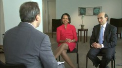Condoleezza Rice---legs--dress--TV-Interview--March 2012--USA