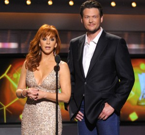 Reba McEntire - 2012 ACM awards - white dress (large digital photo)